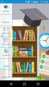 app educación, comunicaciones, galería de imágenes, tienda online, descarga de documentos